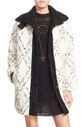 Women's Free People High Collar Boucle Coat