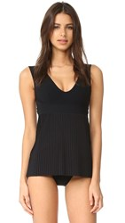 Karla Colletto Josephine V Neck Swim Dress Black