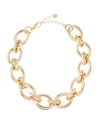 Lydell Nyc Golden Oversized Oval Link Necklace
