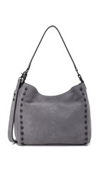 Loeffler Randall Mini Hobo Bag Dark Grey Black
