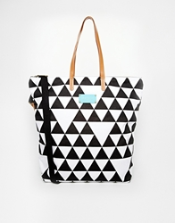 Seafolly Lei Tote Bag In Monochrome Blackwhite