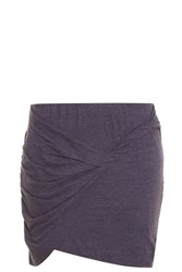 Lna Double Layer Mini Skirt Grey