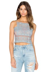 Stone_Cold_Fox Chrous Crop Top Blue