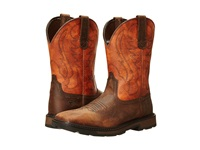 Ariat Groundbreaker Wide Square Toe Brown Ember Cowboy Boots