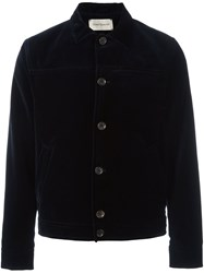 Oliver Spencer Velvet Boxy Jacket Blue