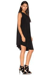Norma Kamali Kamalikulture One Shoulder Swing Dress Black