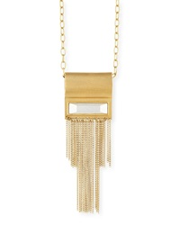 Waterfall Chain Pendant Necklace 42'L Stephanie Kantis