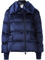 Moncler Grenoble Quilted Zip Up Jacket Blue