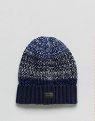 G Star Knitted Beanie Blue