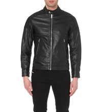 Diesel Monike Leather Jacket Black