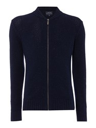 Criminal Men's Austin Baseball Collar Cardigan Navy