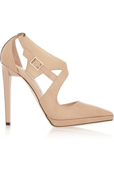 Jimmy Choo Vinse Patent Leather Pumps Nude