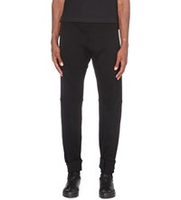 Moncler X Off White Tapered Cotton Jersey Jogging Bottoms Black