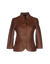 Vintage De Luxe Suits And Jackets Blazers Women Brown