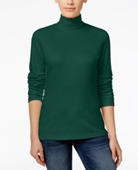 Karen Scott Long Sleeve Turtleneck Only At Macy's Spruce Night