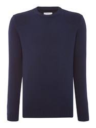 Peter Werth Men's Bradbury Military Knitted Crew Neck Navy