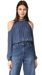 Ramy Brook Lauren Blouse Shadow Blue