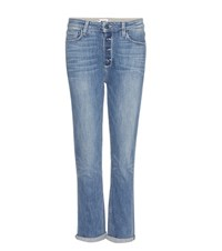 Paige Carter Slim High Rise Relaxed Skinny Jeans Blue