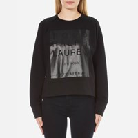 Polo Ralph Lauren Women's Crew Neck Modern Fleece Black