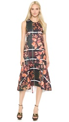 Clover Canyon Fall Leaves Dress Peach
