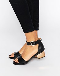 Truffle Collection Honor Mid Heeled Sandals Black Pu