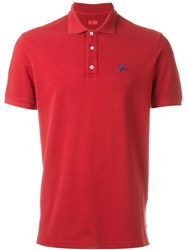 Isaia Classic Polo Shirt Red