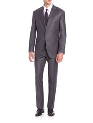 Saks Fifth Avenue Samuelsohn Solid Wool Suit Charcoal