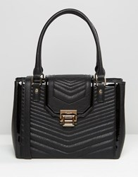 Dune Quilted Tote Bag Black