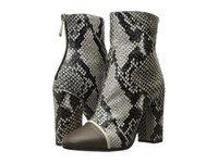Just Cavalli Python Printed High Heel Ankle Bootie Caribou