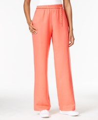 Jm Collection Linen Blend Chain Belt Pants Only At Macy's Coral Tile