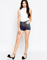 See By Chloe Denim Shorts With Embroidery Blue