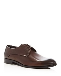 Hugo C Dresios Lace Up Derby Shoes Dark Brown