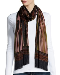 Sam Edelman Stained Glass Oblong Scarf Rose