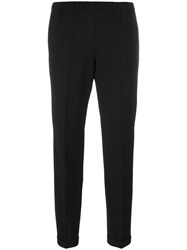 Alberto Biani Pleated Tapered Trousers Black