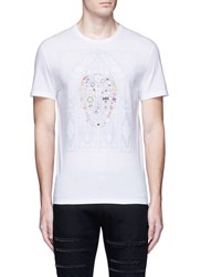 Alexander Mcqueen Skull Cathedral Print Organic Cotton T Shirt White