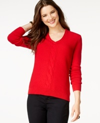 American Living Solid Sweater Only At Macy's Rich Red