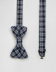 Original Penguin Bow Tie Navy Tartan Navy