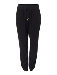 Biba Textured Luxe Slouch Trousers Black