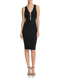Aqua Ponte Bar Dress Black