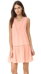 Minkpink Blushing Beach Drop Waist Dress Blush Pink