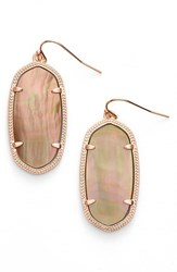Kendra Scott Women's 'Elle' Drop Earrings Brown Mop Rose Gold