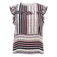 Bzr Luciana Striped Print Top