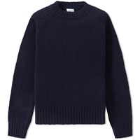 Dries Van Noten Marcel Heavy Crew Knit Blue