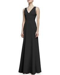 Robert Rodriguez Vertebrae B Woven Panel Sleeveless Gown Black