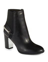 Isaac Mizrahi Spiffy Ankle Boots Black Leather