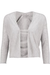 Autumn Cashmere Cropped Cardigan Gray