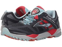 Brooks Cascadia 11 Anthracite Hibiscus Crystal Blue Women's Running Shoes Black
