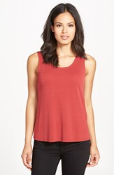 Eileen Fisher Silk Jersey Tank Regular And Petite Online Only Red Saffron