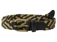 Scotch And Soda Braided Leather Cord Belt Black Brown Men's Belts