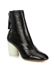 Proenza Schouler Leather Cap Toe Booties Black
